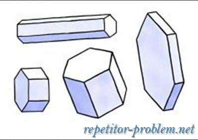 Геометрия снежинок: шестигранная призма