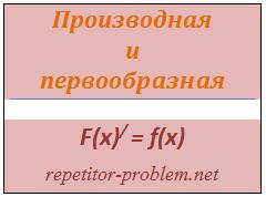 Производная и первообразная как взаимно-обратные функции