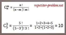 Комбинаторика примеры решения задач