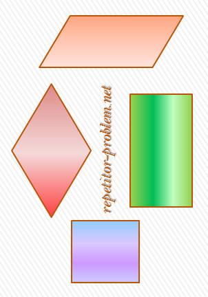 виды параллелграмма